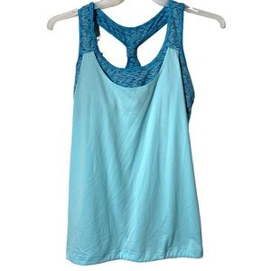 Athletic Works Tank Top Workout Athletic Aqua Lrg